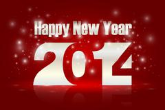 Happy new year 2014 Stock Illustration