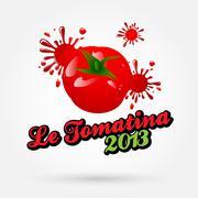 Le tomatina fest Stock Illustration