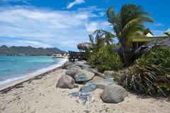 Coast in Saint Maarten Island, Dutch Antilles - stock photo