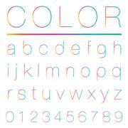 Modern alphabet(lowercase) Stock Illustration