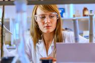 Stock Photo of woman scientist in laboratory