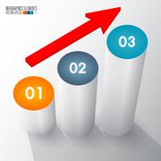 3d infographics template - stock illustration