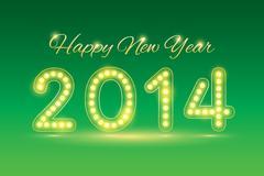 happy new year 2014 - stock illustration