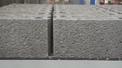 Pumice Brick factory Stock Footage