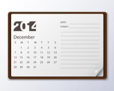 december 2014 calendar - stock illustration