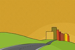 Sunset urban scene Stock Illustration