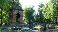 Halifax Nova Scotia New Scotland Canada 074 cemetery The Old Burying Ground Stock Footage