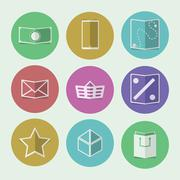 flat icons for online store - stock illustration