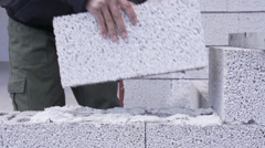 Pumice Brick Stock Footage