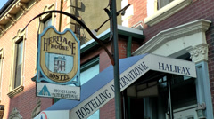 Halifax Nova Scotia New Scotland Canada 083 historic hostel in Barrington Street Stock Footage