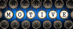 Motive on Old Typewriter's Keys. Stock Illustration