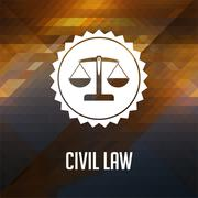 Civil Law Concept on Triangle Background. Stock Illustration
