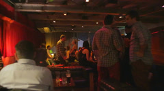 An upscale jazz bar in melbourne Stock Footage