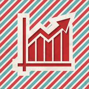Growth Concept on Retro Striped Background. - stock illustration