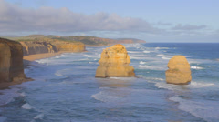 Medium shot of the 12 apostles different side Stock Footage