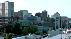 Halifax Nova Scotia New Scotland Canada 089 cityscape seen from passenger ship Stock Footage