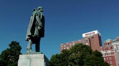 Halifax Nova Scotia New Scotland Canada 086 founder Edward Cornwallis monument Stock Footage