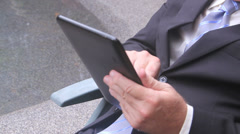Businessman Working With Tablet Stock Footage