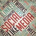 Stock Illustration of Social Media Concept - Vintage Wordcloud.