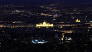 Stock Video Footage of Budapest Hungary by Night Aerial View Timelapse 1