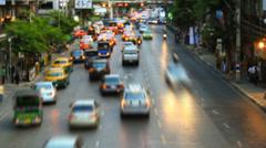 Traffic jam in city Stock Footage