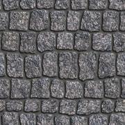 Granite Sett. Seamless Tileable Texture. Stock Illustration