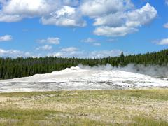 Old Faithful, Yellowstone National Park - stock photo