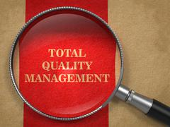 Total Quality Management - Magnifying Glass. - stock illustration