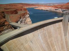 Glen Canyon Dam near Lake Powell Stock Photos