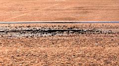 Pothole Medium Hole Dry Slow Stock Footage