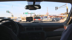 Right turn by gas station Stock Footage