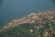 Stock Photo of Tuscan Coast from the Aircraft