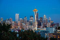 Seattle skyline Kuvituskuvat
