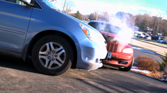 Static Wide of Accident Stock Footage