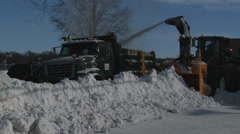 Snow Removal Close Stock Footage