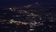 Stock Video Footage of Budapest Hungary by Night Aerial View Timelapse 3