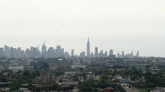 New York City Skyline Via Rt 3 NJ Stock Footage