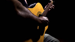 Playing A Solo Guitar. Stock Footage