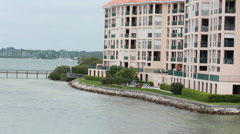 Expensive waterfront condos in Tampa Bay Stock Footage