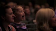 Stock Video Footage of Bored girl in the auditorium