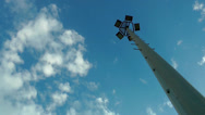 Stock Video Footage of Light pole and the clouds