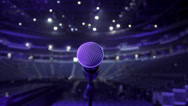 Stock Video Footage of Microphone on stage at concert venue