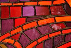 Stained glass window - church - stock photo