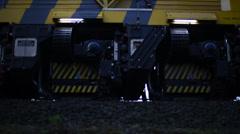 Railgrinder Working On The Railroad Tracks Stock Footage