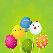 Happy easter color card Stock Illustration