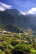 Madeira mountain scenery, Lombo da Serra dos Judeus  Stock Photos