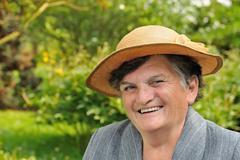 Senior woman - portrait Stock Photos