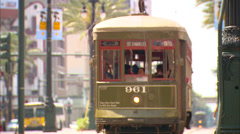 Canal Street Streetcar Stock Footage