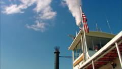 Steamboat Natchez Whistle Stock Footage