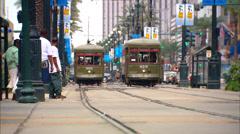 Canal Street Streetcar Stock Footage